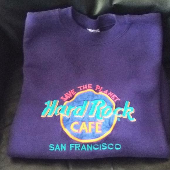 26d86928 Hard Rock Cafe Tops - Hard Rock Cafe San Francisco. Purple sweatshirt.